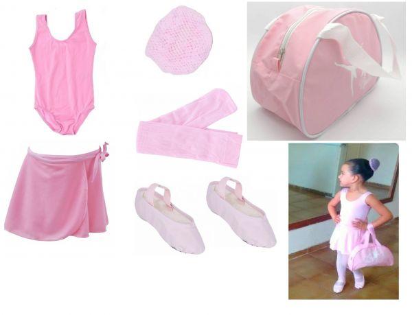 52bc7f7f412848 Kit completo roupa ballet infantil baby class - Loja Pliê - Artigos ...