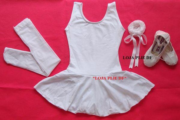 78b24f63b714df kit ballet Infantil BRANCO para aula - Loja Pliê - Artigos para ...